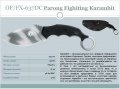 OF/FX-637DC Parong Fighiting Karambit
